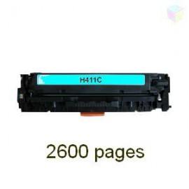 toner cyan pour imprimante HP Laserjet Pro 300 Color Mfp M375nw équivalent CE411A - N°305A