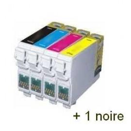 Pack 2 cartouches pour imprimante Epson Stylus Office Bx305f équivalent C13T12854010