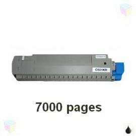 Toner noir compatible Oki 44643004