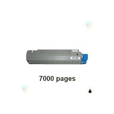 toner noir pour imprimante Oki C801 équivalent 44643004