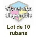 Ruban matriciel compatible epson s015055 noire 15 millions de carracteres - Lot de 10