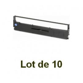 Ruban compatible epson lq-800 (s015021) noire - Lot de 10