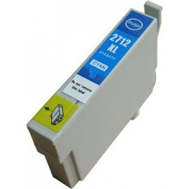 cartouche compatible C13T27124010 cyan pour Epson Workforce Wf3620dwf