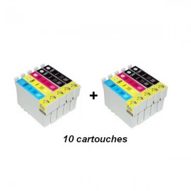 cartouche compatible C13T12854010 pack noir+couleur pour Epson Stylus Office Bx305f