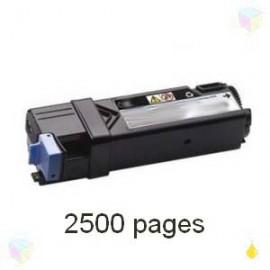 toner yellow pour imprimante Dell 2150cn équivalent 593-11036