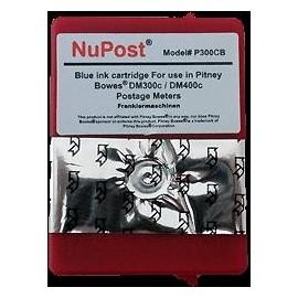 cartouche bleu pour imprimante Pitney Bowes Dm300c équivalent P300CB - 765-9BN